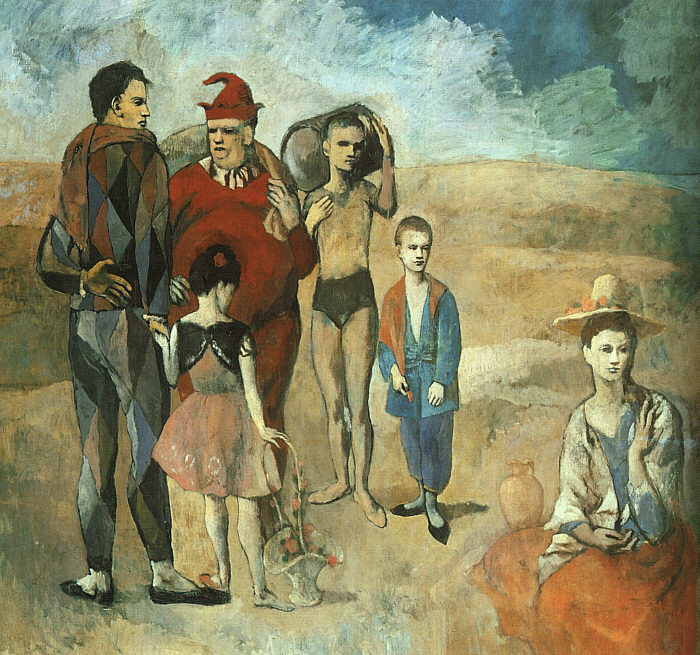Pablo Picasso, Famiglia di saltimbanchi (1905, Washington, National Gallery of Art).