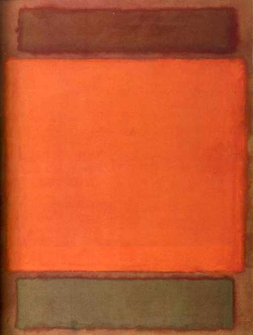 Mark Rothko, 202 (Arancione e marrone), 1963. Detroit, Detroit Institute of Arts.